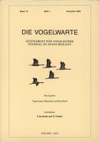 Die Vogelwarte, Band 41, Heft 4. Zeitschrift für Vogelkunde, hg. v. d. Vogelwarten Helgoland und Radolfzell-0