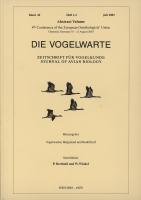 Die Vogelwarte, Band 42, Heft 1-2 (Abstract Volume). Zeitschrift für Vogelkunde, hg. v. d. Vogelwarten Helgoland und Radolfzell-0