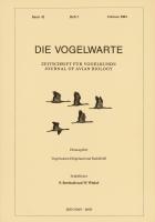 Die Vogelwarte, Band 42, Heft 3. Zeitschrift für Vogelkunde, hg. v. d. Vogelwarten Helgoland und Radolfzell-0