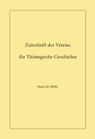 Zeitschrift für Thüringische Geschichte, Band 62 (2008)-0