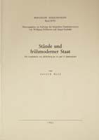 Stände und frühmoderner Staat, (= Quellen und Darstellungen zur bergischen Geschichte, Kunst und Literatur, Band 17)-0