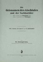 Die Ortsnamen des Aischtales und der Nachbartäler (nebst Proben von Flurnamen und einem Verzeichnis der Wüstungen)-0
