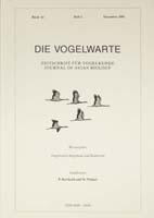Die Vogelwarte, Band 41, Heft 2. Zeitschrift für Vogelkunde, hg. v. d. Vogelwarten Helgoland und Radolfzell-0