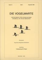 Die Vogelwarte, Band 41, Heft 3. Zeitschrift für Vogelkunde, hg. v. d. Vogelwarten Helgoland und Radolfzell-0