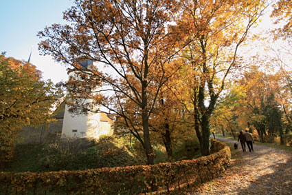 Herrengraben Bürgerturm im Herbst