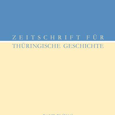 Verein für Thüringische Geschichte/Historische Kommission für Thüringen Band 70