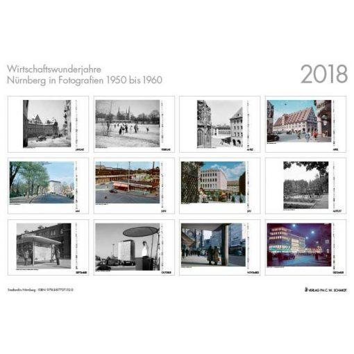 Wirtschaftswunderjahre - Nürnberg in Fotografien 1950-1960. Monatskalender 2018