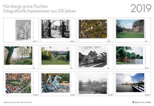 Nürnbergs grüne Fluchten - Fotografische Impressionen aus 100 Jahren. Monatskalender 2019