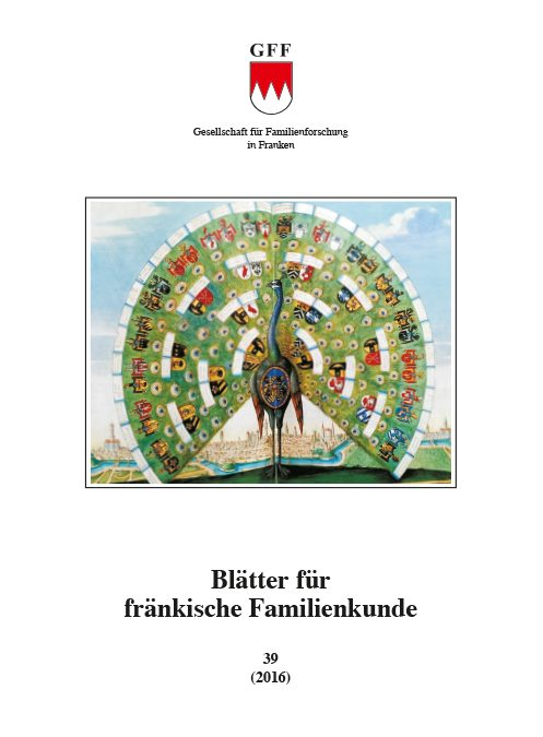 Blätter für fränkische Familienkunde Band 40 (2017)