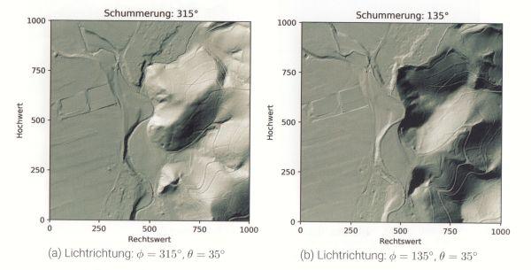 LiDAR, Baden Württemberg,Schummerung,Digitales Geländemodell