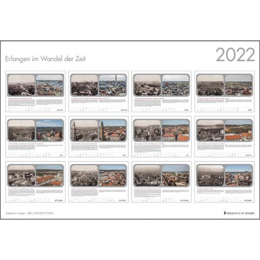 Erlangen im Wandel der Zeit - Kalender 2022 Übersicht